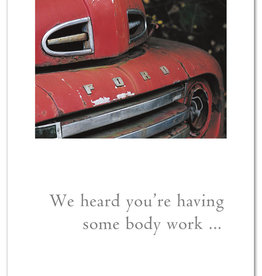 Cardthartic - Red Ford Truck Get Well Card