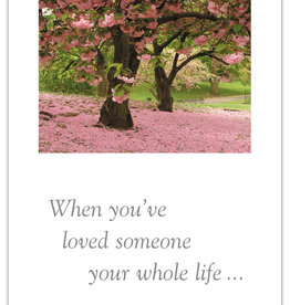 Cardthartic - Two Cherry Blossom Trees  Sympathy Card