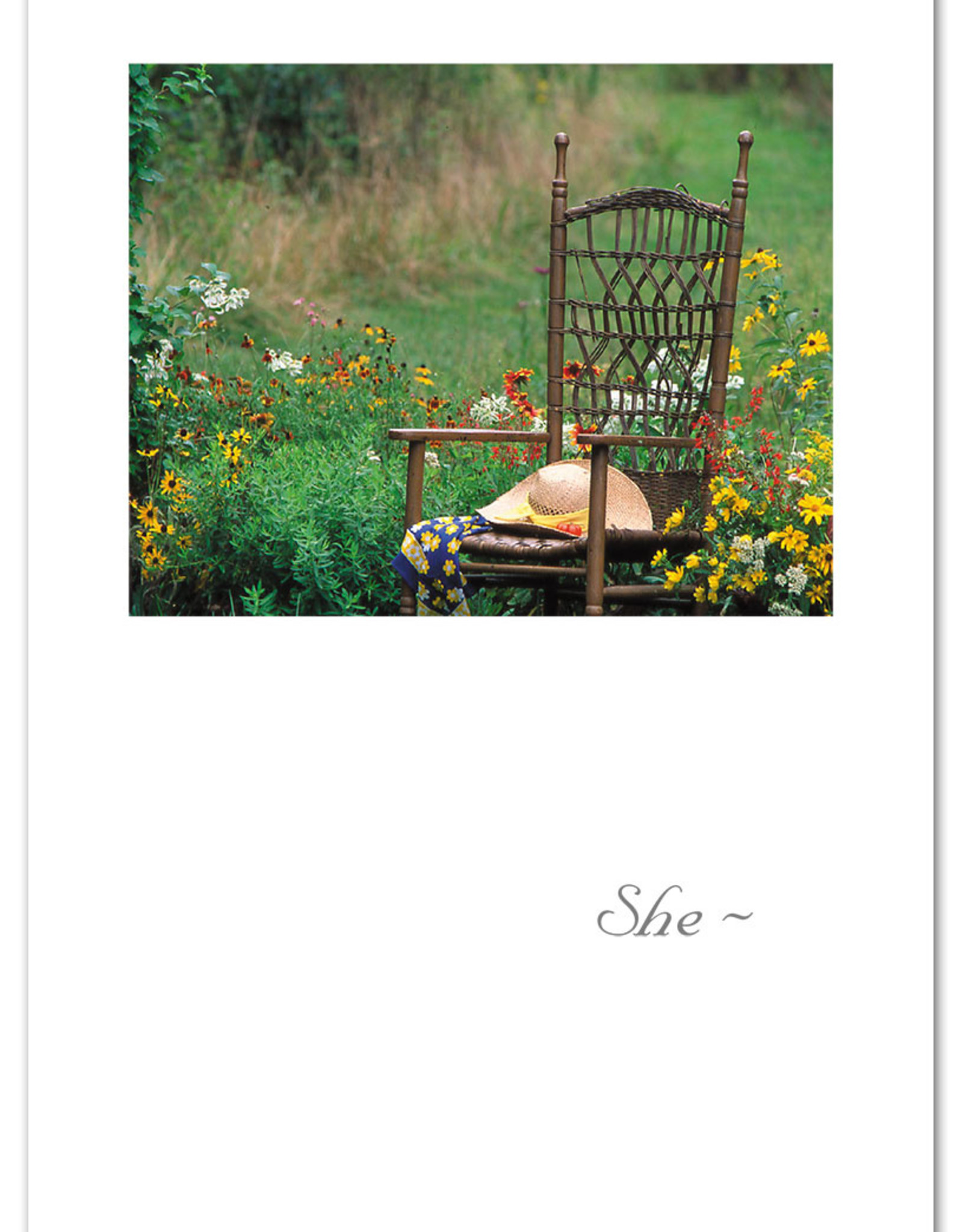 Cardthartic Cardthartic - Hat on Garden Chair Sympathy Card
