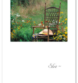 Cardthartic - Hat on Garden Chair Sympathy Card