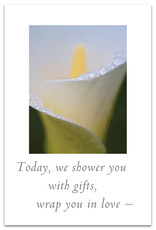 Cardthartic Cardthartic - White Calla Lily Close-up Wedding Shower Card