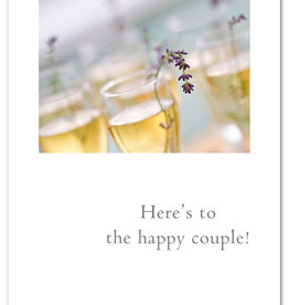Cardthartic - Champagne & Lavender Wedding Card