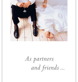 Cardthartic - Floored Bride and Groom Wedding Card