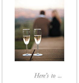 Cardthartic - Couple with Champagne Anniversary Card