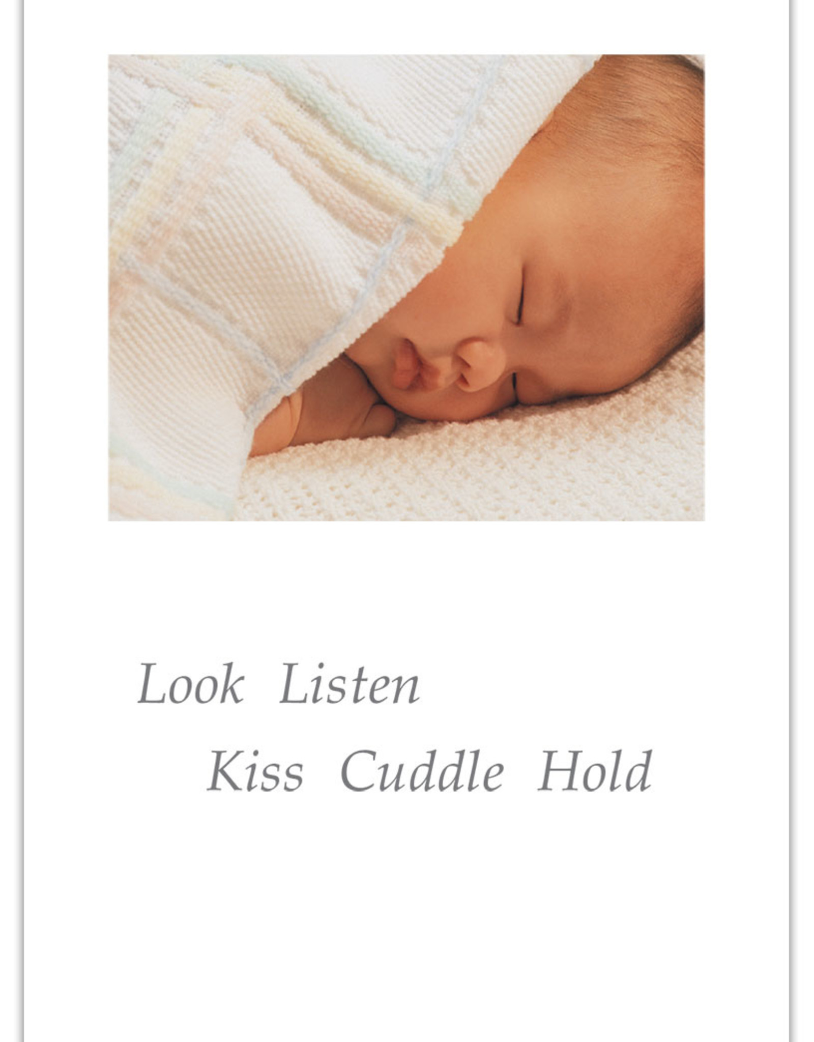 Cardthartic Cardthartic - Baby Sleeping in White Blanket New Baby Card