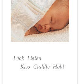 Cardthartic - Baby Sleeping in White Blanket New Baby Card