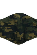 DM Merchandising Cotton Face Masks - Adjustable Straps - Green Camo