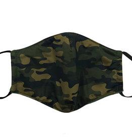 Cotton Face Masks - Adjustable Straps - Green Camo