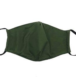 Cotton Face Masks - Adjustable Straps - Solid Green