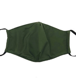 DM Merchandising Cotton Face Masks - Adjustable Straps - Solid Green