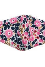 DM Merchandising Cotton Face Masks - Adjustable Straps - Pink Floral