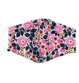 Cotton Face Masks - Adjustable Straps - Pink Floral