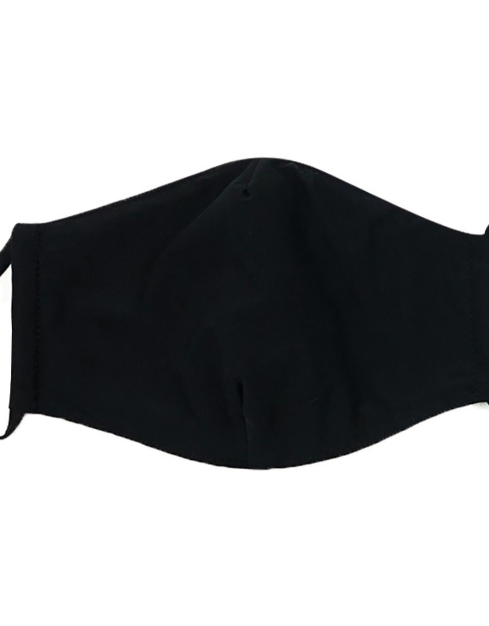DM Merchandising Cotton Face Masks - Adjustable Straps - Solid Black