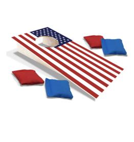 Mini Cornhole Set - USA Flag