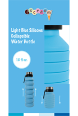 Iscream Iscream - Blue Silicone Collapsible Water Bottle