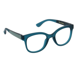 Peepers - Brocade Reading Glasses - Teal/Golden