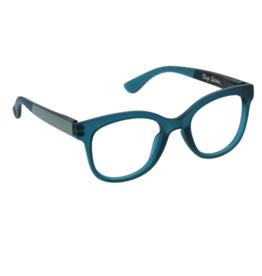 Peepers Peepers - Brocade Reading Glasses - Teal/Golden