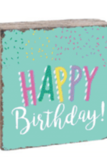 Rustic Marlin Rustic Marlin - 6 x 6 Block Happy Birthday
