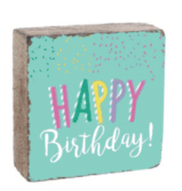 Rustic Marlin Rustic Marlin - 6 x 6 Block Happy Birthday