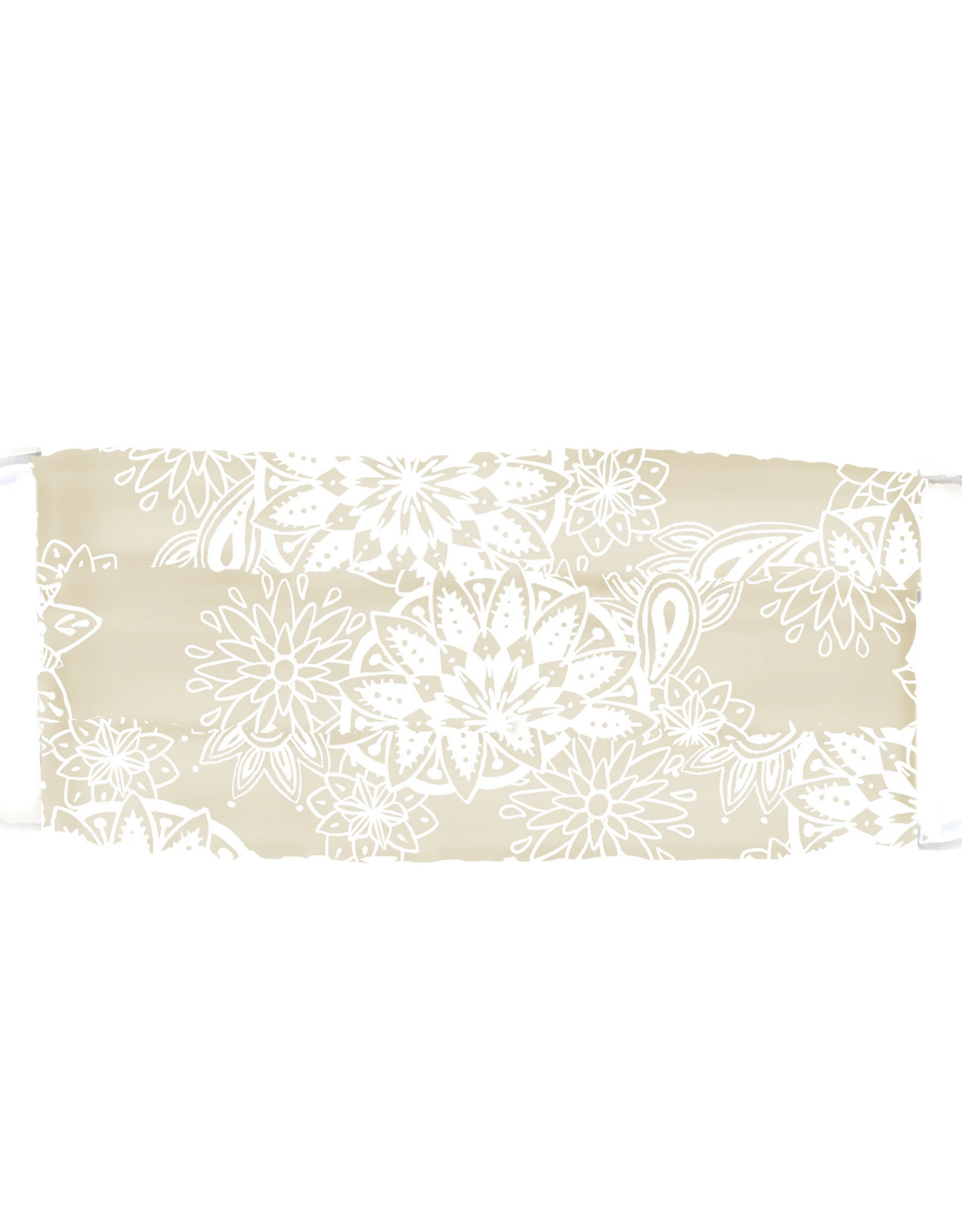 Lotus and Luna Lotus and Luna - Pleated Face Mask - Taupe and Cream