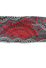 Lotus and Luna Lotus and Luna - Pleated Face Mask - Red and Teal Mandala