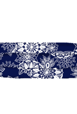 Lotus and Luna Lotus and Luna - Pleated Face Mask - Navy Blue and White Mandala