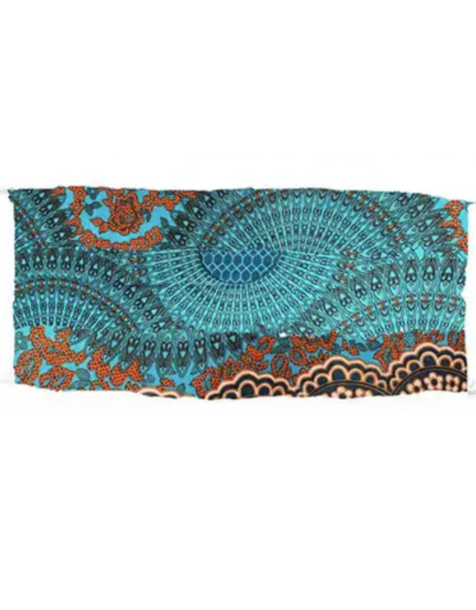 Lotus and Luna Lotus and Luna - Pleated Face Mask - Coral and Teal