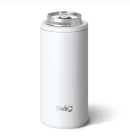Swig - 12oz Skinny Can - Matte White