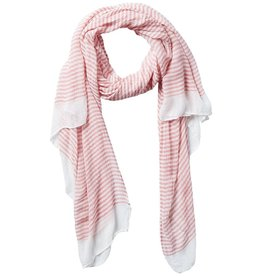 Tickled Pink - Insect Shield Scarf - Coral Tiny Stripe