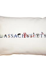 "Tina Labadini Designs Tina Labadini Designs - 11"" x 17"" Massachusetts Pillow"