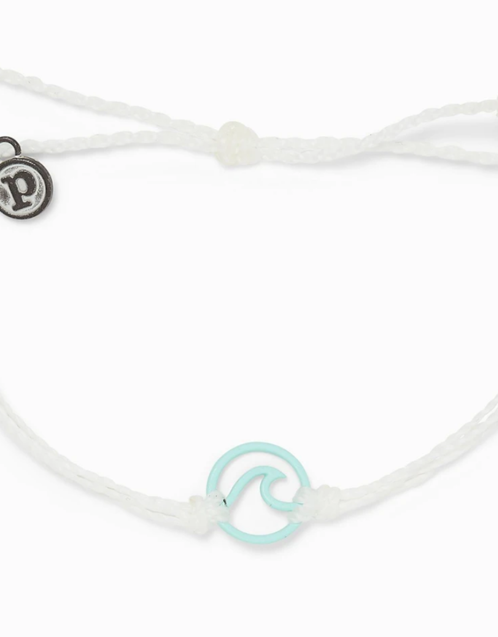 Puravida Pura Vida - Charm Bracelet Enamel Wave - White