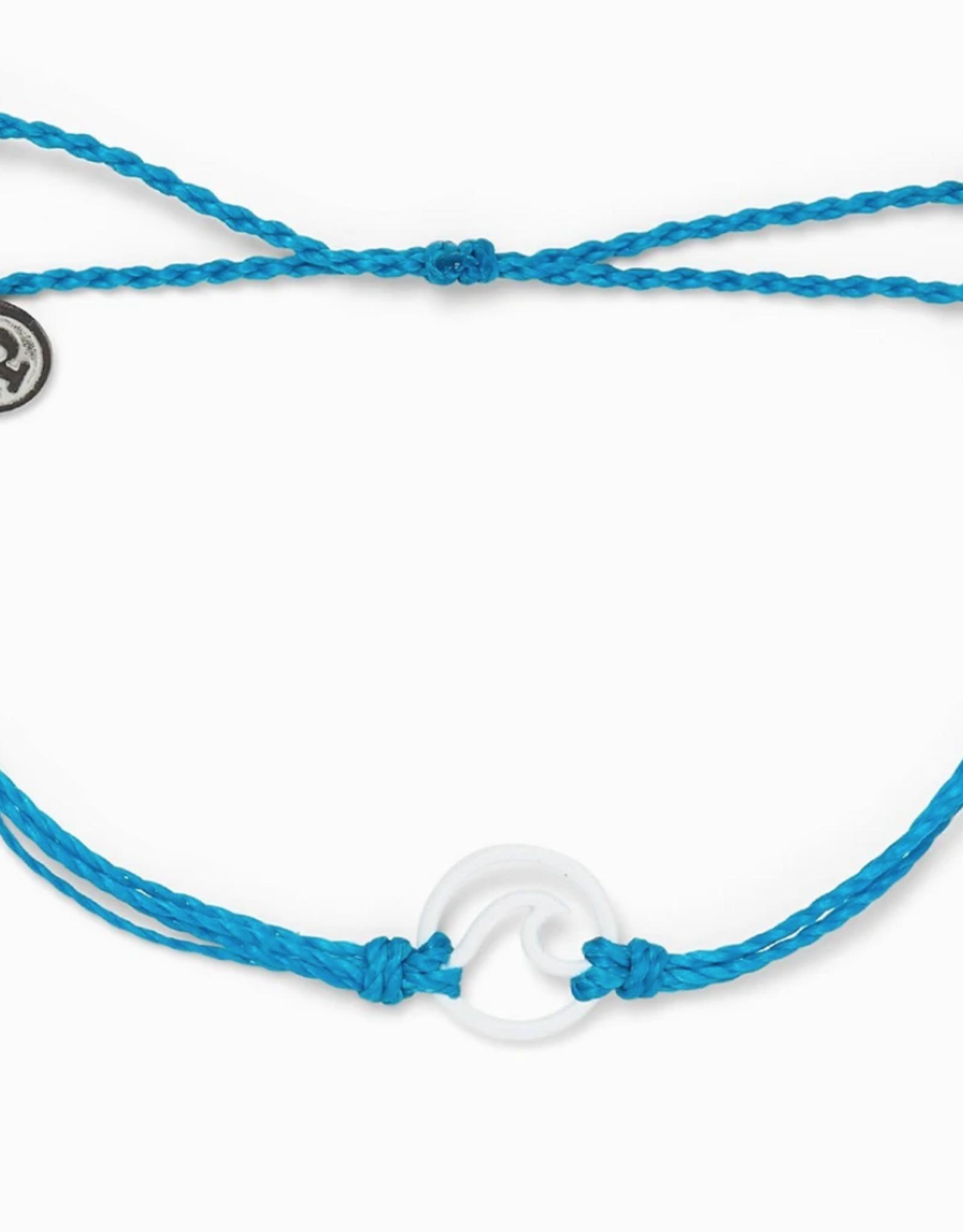 Pura Vida Pura Vida - Charm Bracelet Enamel Wave - Neon Blue