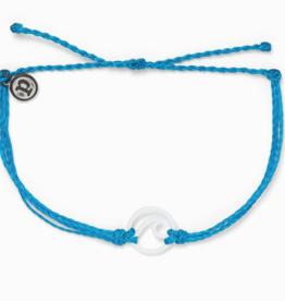 Puravida Pura Vida - Charm Bracelet Enamel Wave - Neon Blue