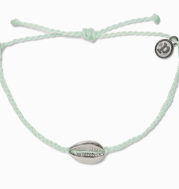 Pura Vida Pura Vida - Charm Bracelet Cowrie Shell - Winterfresh/Silver