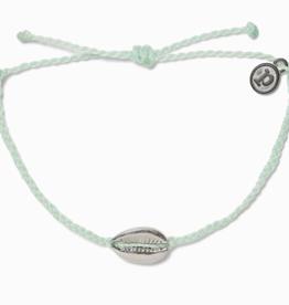 Puravida Pura Vida - Charm Bracelet Cowrie Shell - Winterfresh/Silver