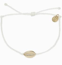 Puravida Pura Vida - Charm Bracelet Cowrie Shell - Gold/White