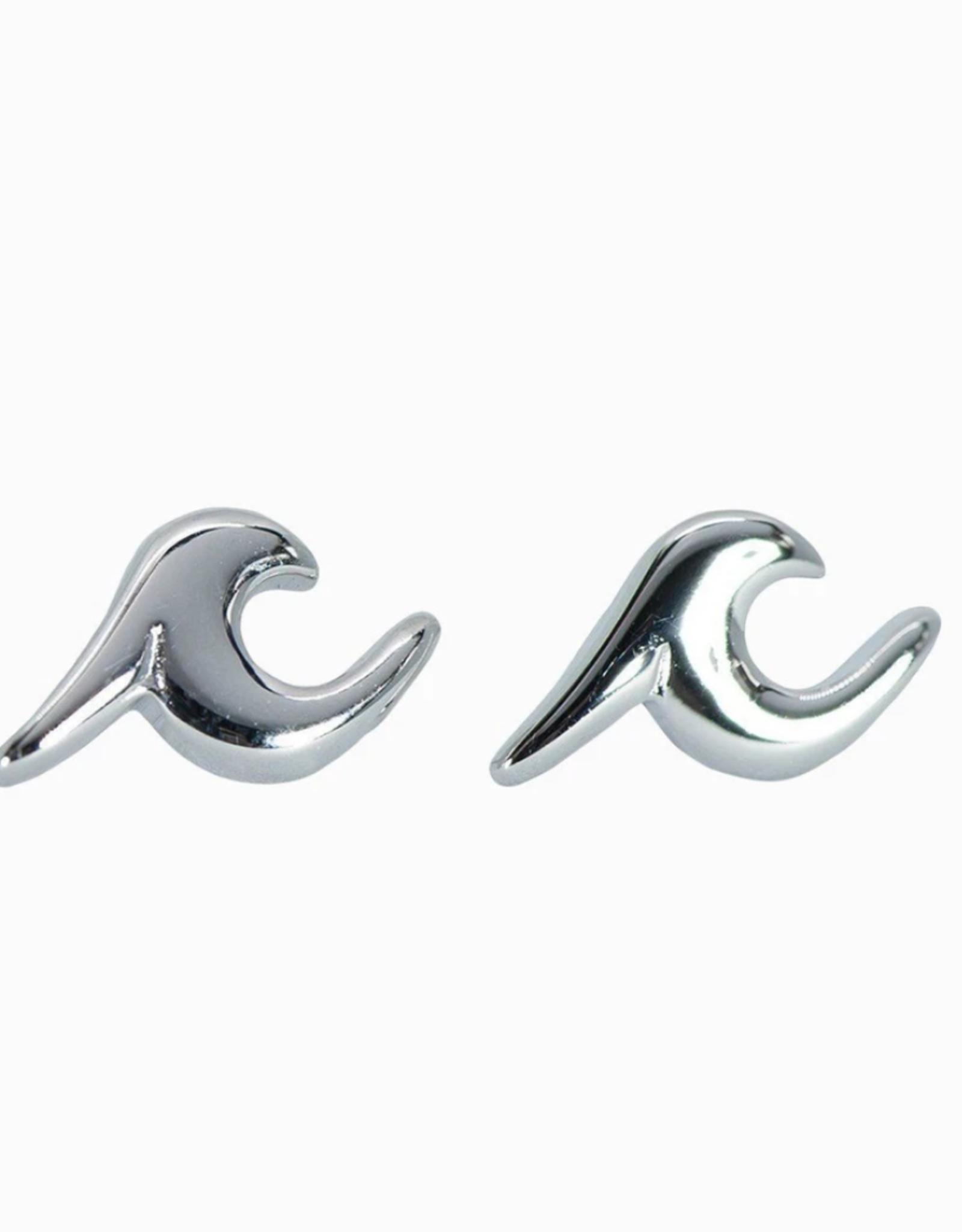 Puravida Puravida - Wave Stud Earrings