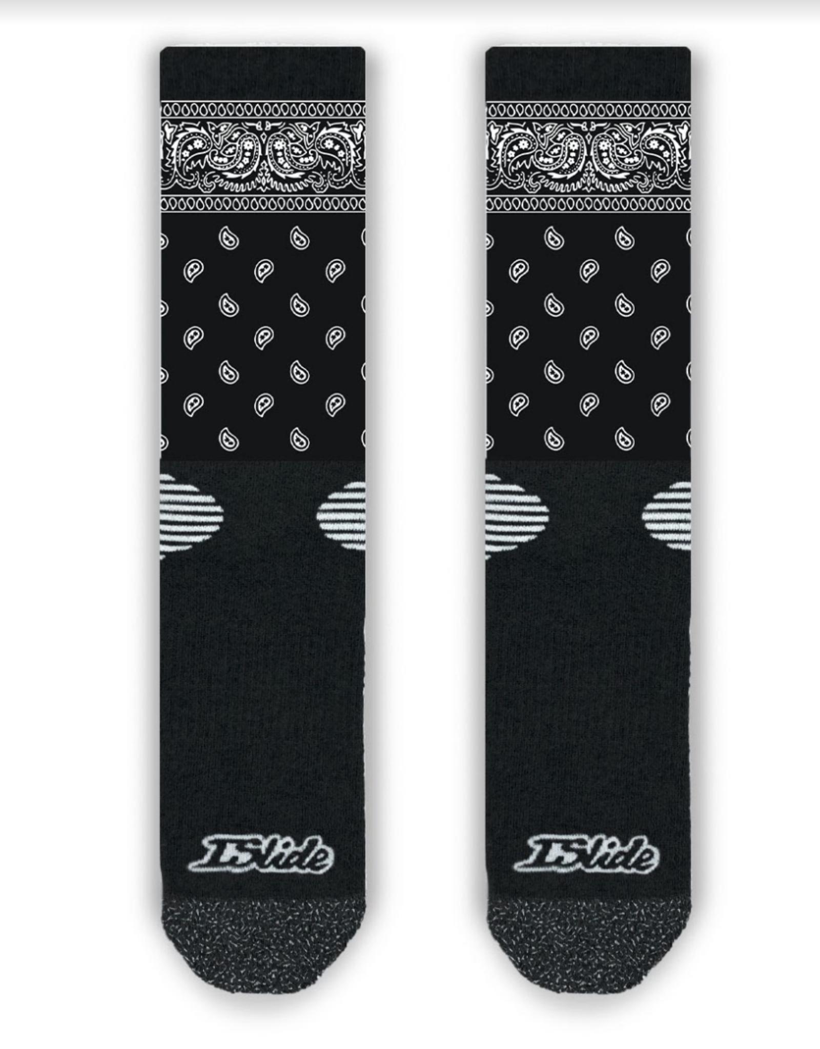 Islide Islide - Black Bandana Socks