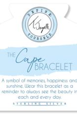 T. Jazelle T. Jazelle - Silver Cape Bracelet - Gold Plated Ball