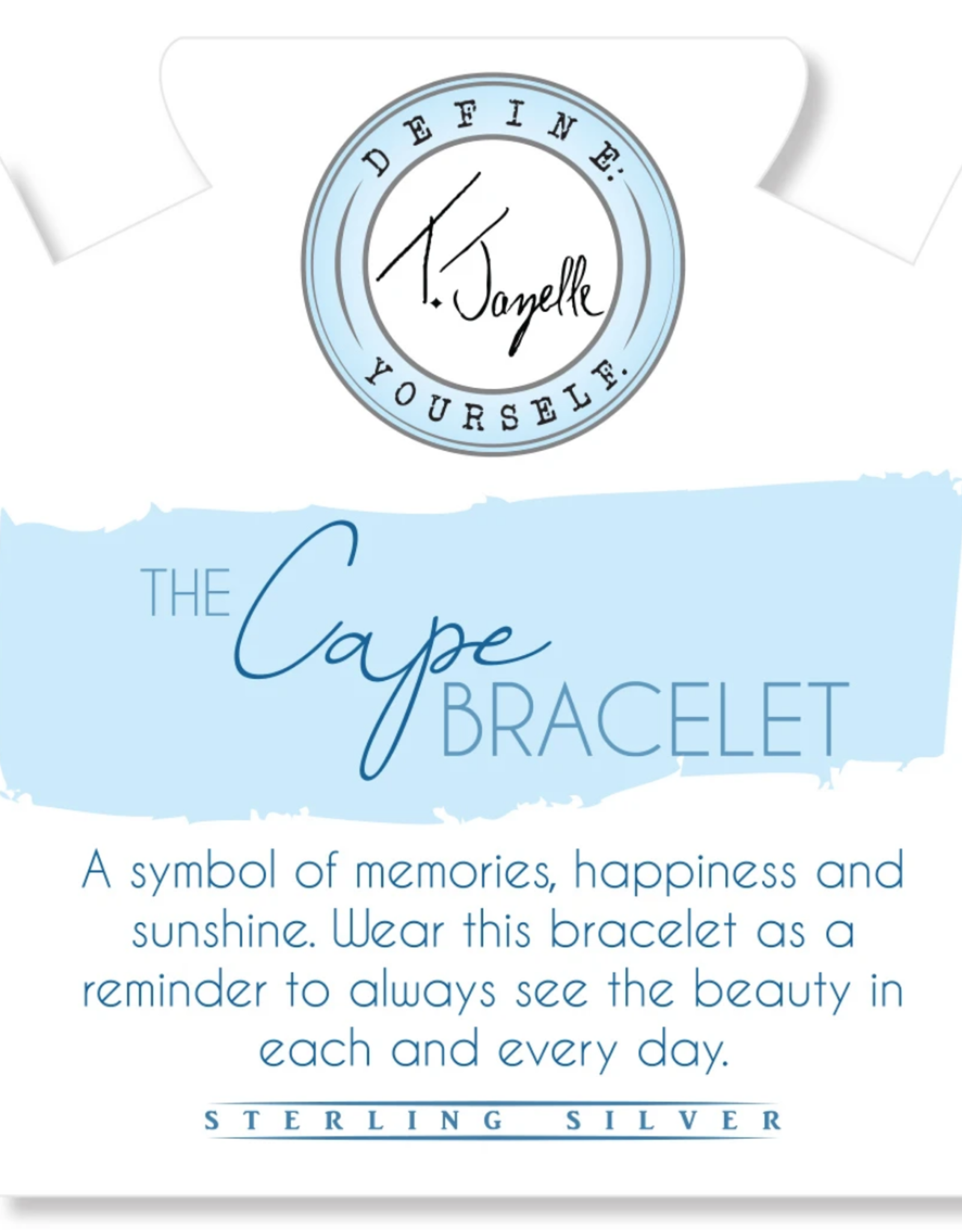 T. Jazelle T.Jazelle - The Cape Bracelet - Hematite with Gold Ball