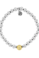 T. Jazelle T.Jazelle - Cape Bracelet - Hematite with Gold Plated Ball