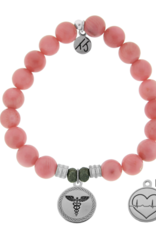 T. Jazelle T.Jazelle - Pink Coral - Caduceus Bracelet