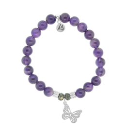 T. Jazelle T.Jazelle - Amethyst - Butterfly Bracelet