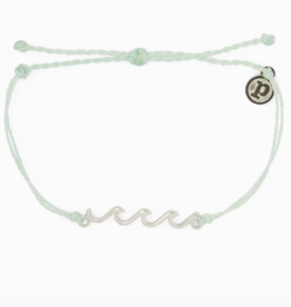 Puravida Pura Vida - Charm Bracelet Delicate Wave - Winter Fresh
