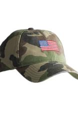 Harding Lane Harding Lane - American Flag on Camo Adult Hat
