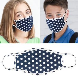 Mask - Navy and White Dots