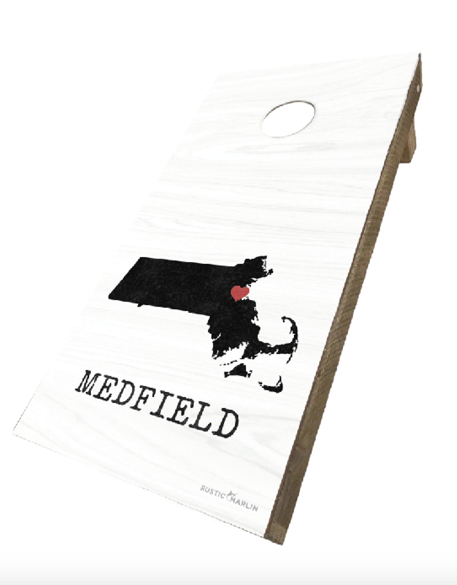 Rustic Marlin Rustic Marlin - Medfield State Silo Cornhole Set