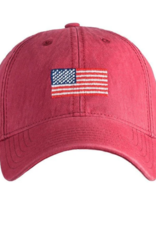 Harding Lane Harding Lane - American Flag on Weathered Red Adult Hat