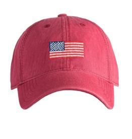 Harding Lane Harding Lane - American Flag on Weathered Red Adult Hat