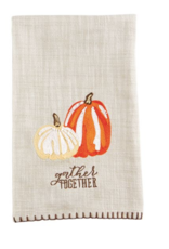 Mud Pie Mud Pie - Embroidered Pumpkin Towel - Gather